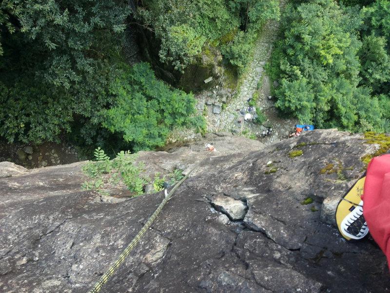 A 2-pitch climb at Sondrio