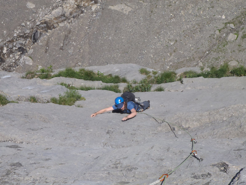 Rock Climbing Photo: Cruising an upper 6b on Kontinuum