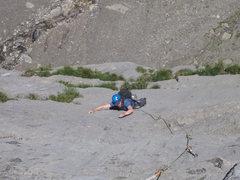Rock Climbing Photo: Cruising an upper 6b on Kontinuum