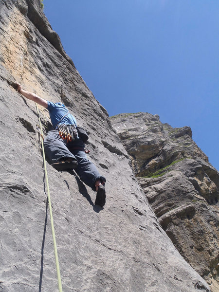 One of the 6c crimpy pitches