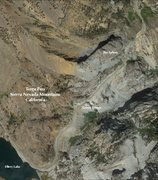 Rock Climbing Photo: Satellite Overview Map of the Sphinx. Credit: Ed H...