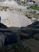 Rock Climbing Photo: Looking back down from the 3rd pitch belay. Photo:...