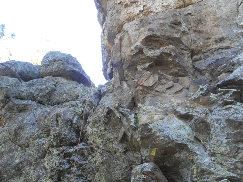 Rock Climbing Photo: First Date- 5.7 grime, munge, slightly suspect roc...