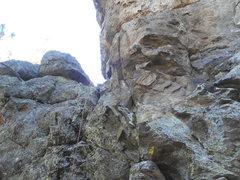 Rock Climbing Photo: First Date- 5.7 grime, munge, slightly suspect roc...