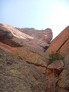Rock Climbing Photo: Glen beginning the crux.