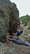 Rock Climbing Photo: Working the irregular bump section of Air Tracks. ...