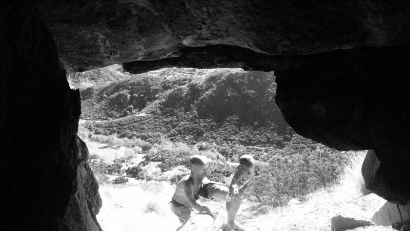 Rock Climbing Photo: Black & White Astral Projection!!