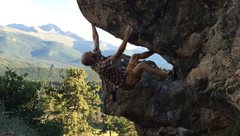 Ray Weber bouldering along Trail Ridge Road in Rocky Mountain Park, Colorado!!!!