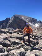 Rock Climbing Photo: Ray Weber on top of Mt. Lady Washington, Colorado....