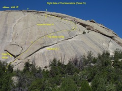 Rock Climbing Photo: The middle crack that curls up at the right end. ?...