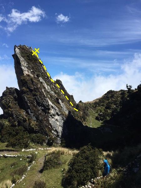 Low angle rock wall