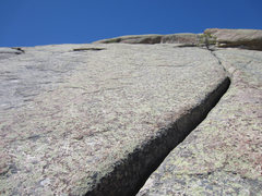 Rock Climbing Photo: Looking up P3.