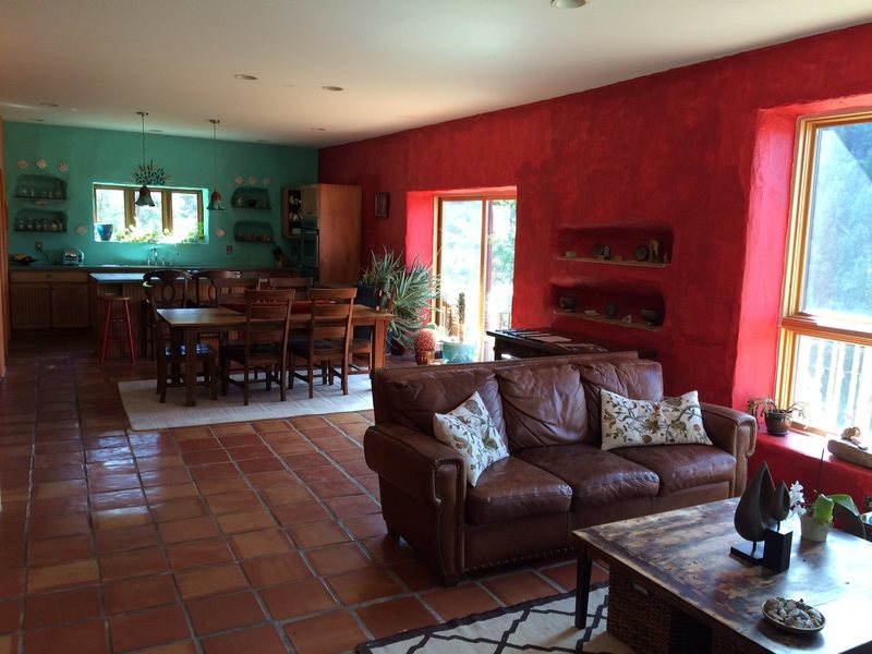 Rock Climbing Photo: Main floor with kitchen, dining, and living area. ...