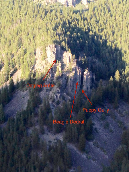Rock Climbing Photo: Aerial photo of the canine cliffs