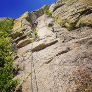 Rock Climbing Photo: Starting up the first pitch. It's a long one s...