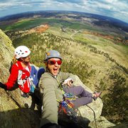 Rock Climbing Photo: View from the top of pitch two!