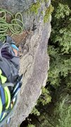 Rock Climbing Photo: looking down from first set of anchors