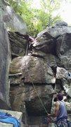 Rock Climbing Photo: KLS having some fun on Mentally Disturbed
