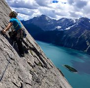 Rock Climbing Photo: Wandered on the face for some easy 5.5 climbing a ...