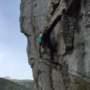 Rock Climbing Photo: Waiting for Corrugation Corner at Lovers Leap