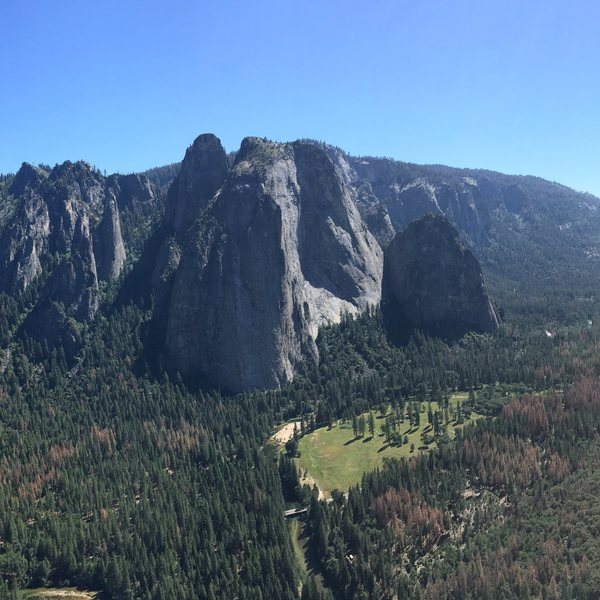 View from Belay 7 on the East Buttress of El Cap