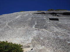 Rock Climbing Photo: You can see the 1st bolt before the roof.
