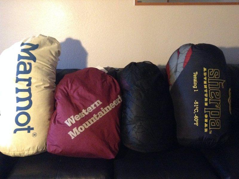 Rock Climbing Photo: Sleeping Bags