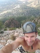 Rock Climbing Photo: A pretty view and a ways up the slab. I mad sit to...