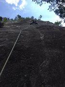 Rock Climbing Photo: Kaoru's lead.