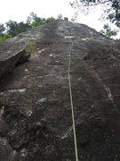 Rock Climbing Photo: Kaoru tops out.