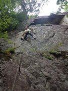 Rock Climbing Photo: Christian climbing.