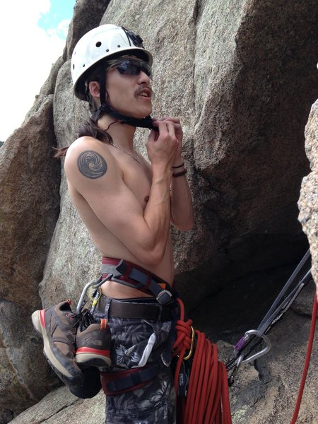 This is not me but my friend and climbing partner Seiji. The coolest nicest guy you will ever meet.