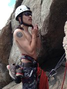 Rock Climbing Photo: This is not me but my friend and climbing partner ...