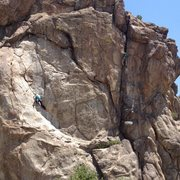 Rock Climbing Photo: Dana on left, me on right.