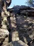 Rock Climbing Photo: Brady Evans finishing the final run out section
