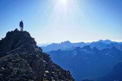 Rock Climbing Photo: Upper ridge just below summit