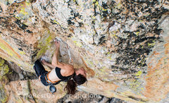 Rock Climbing Photo: Katch on the colorful Heureka