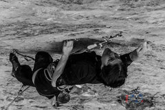 Rock Climbing Photo: The crux started