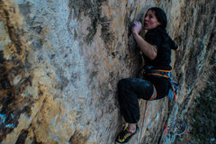 Rock Climbing Photo: Ending the crux