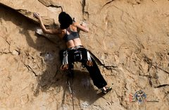 Rock Climbing Photo: Katch warming up