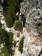 Rock Climbing Photo: Photo taken by Joshua Reinig, looking down from &q...