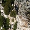 Photo taken by Joshua Reinig, looking down from """"