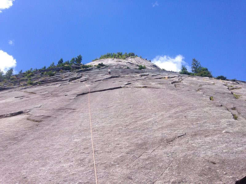 Rock Climbing Photo: Looking up from the base of the route. Climbing to...