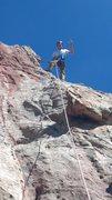 Jacob on top of Kindergarten rock :)
