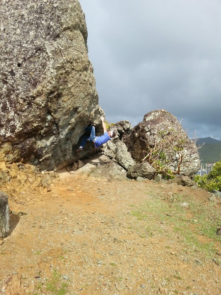 The gate  at the entrance of Oyster Pond.. 20 ft Boulder with 4 routes,,,