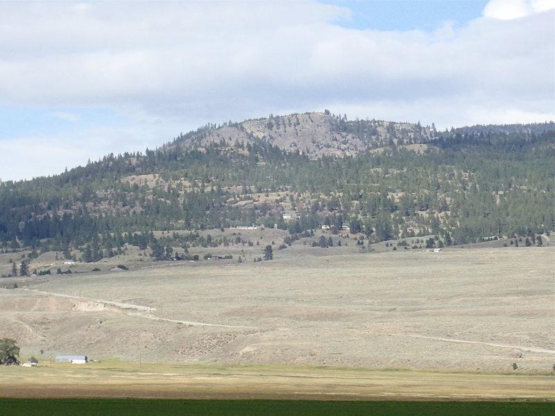 Looking NE to Burge Mtn from Fancher Flats (half way up from Tonasket).