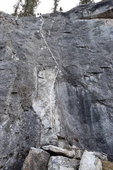 Rock Climbing Photo: Fallen Flake Runout