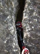 Rock Climbing Photo: Red dragon may still hold passively if it opens up