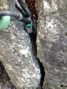 Rock Climbing Photo: Even a nut might rattle through the bottom ... A h...