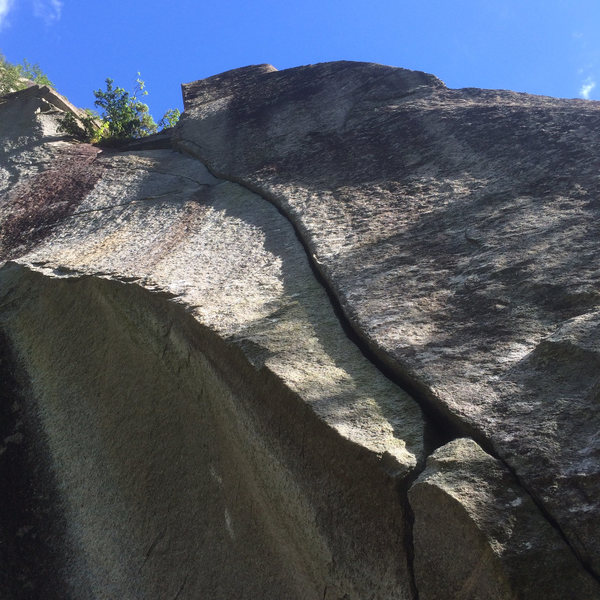 Rock Climbing Photo: Splitter crack from the start